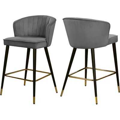"Hammes Velvet 28"" Bar Stool - set of 2 - Wayfair"