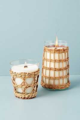 Tropical Rattan Candle By Anthropologie in Beige Size L - Anthropologie