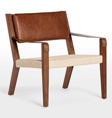 Shaw Walnut & Leather Lounge Chair - Rejuvenation