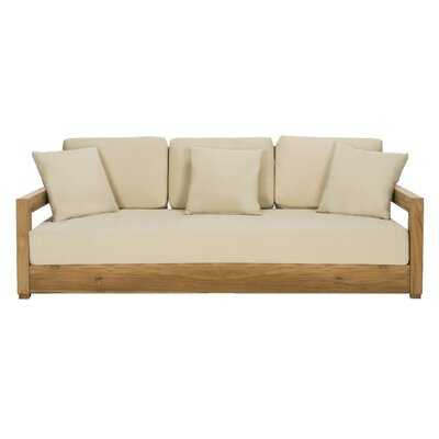 O'Kean Teak Patio Sofa with Cushions - AllModern