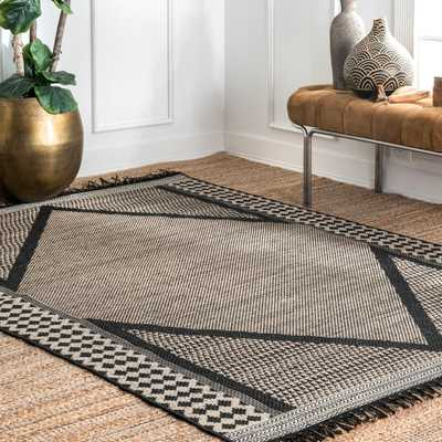 Indoor/Outdoor Modern Diamond Carolyn Area Rug - Loom 23