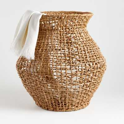 Large Natural Wonky Weave Basket - Crate and Barrel