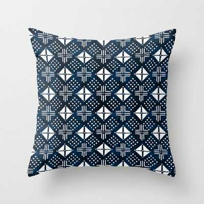 """Mudcloth Triangle - Mudcloth Pillow, Mudcloth Decor, Mud Cloth Bedding, Mudcloth Interiors, Boho, Bohemian Couch Throw Pillow by Charlottewinter - Cover (16"""" x 16"""") with pillow insert - Outdoor Pillow - Society6"""