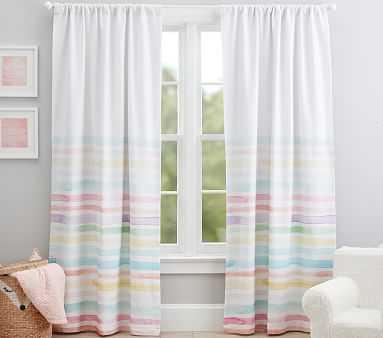 "Kayla Rainbow Stripe Blackout Curtain, 96"", Multi - Pottery Barn Kids"