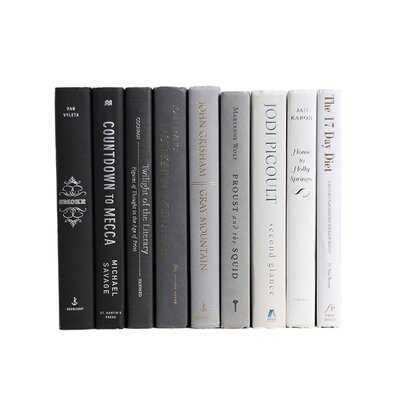 Gray Ombré Colorpak Authentic Decorative Book - Wayfair