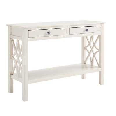 Linon Home Decor Sloane Antique White Console Table - Home Depot