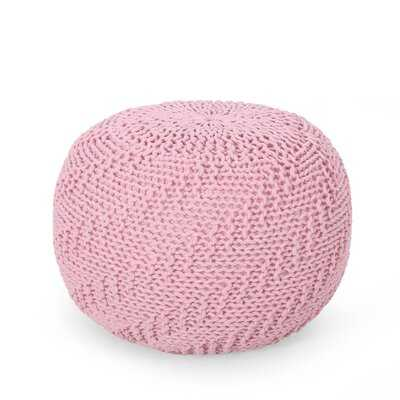 Macaulay Knitted Pouf - Wayfair