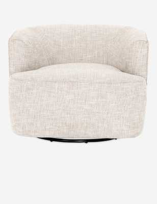 Iona Swivel Chair, Brazos Dove RESTOCK 03/27 - 04/10 - Lulu and Georgia