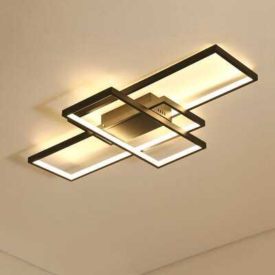 Modern Remote Dimmable Geometric Modeling Design Kitchen Led Flush Mount Ceiling Light - Wayfair