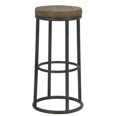 "Sarreid Ltd New York Round Metal 30"" Bar Stool - Perigold"