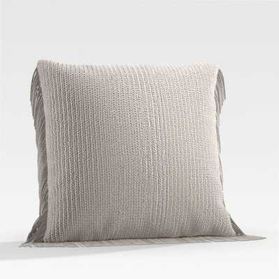 """Bergess 20"""" Ivory Outdoor Pillow - Crate and Barrel"""