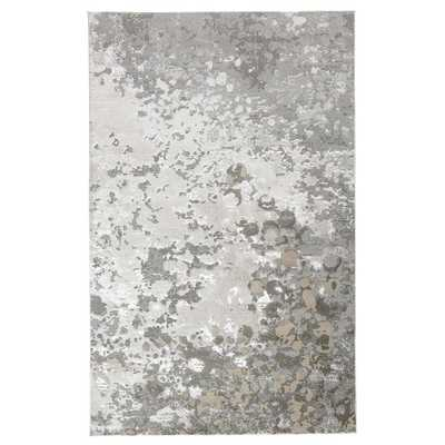 Weave & Wander Orin Silver/Gray 8 ft. x 11 ft. Abstract Area Rug - Home Depot