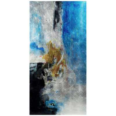 Empire Art Direct Interplay Abstract II Abstract Unframed Reverse Printed on Tempered Glass with Silver Leaf Wall Art 36 in. x 72 in., Multicolor - Home Depot