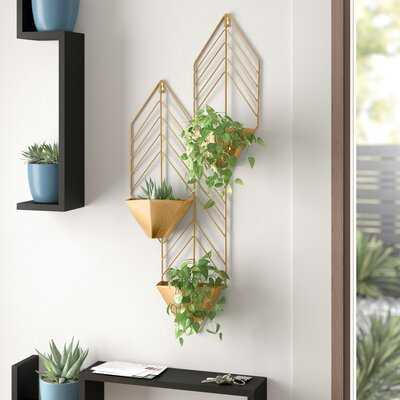 Dayne Iron Wall Planter - AllModern