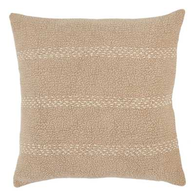 """Design (US) Taupe 20""""X20"""" Pillow - Collective Weavers"""