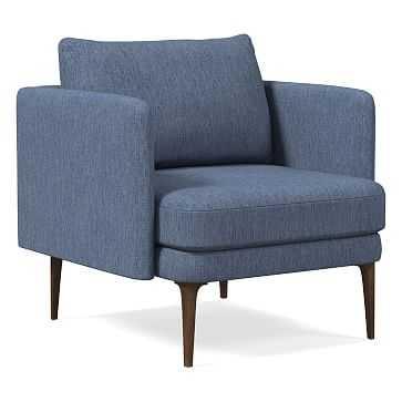 Auburn Chair, Performance Coastal Linen, Midnight, Dark Mineral - West Elm