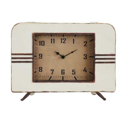 Retro Metal Mantel Clock - Nomad Home