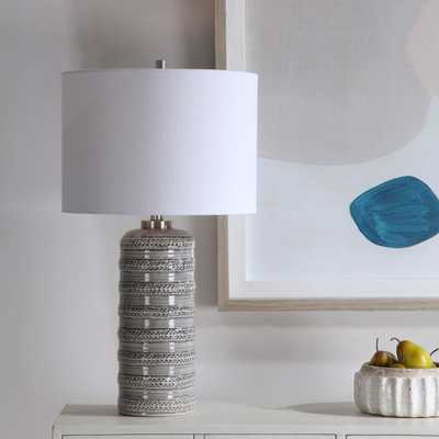 Alenon Light Gray Table Lamp - Hudsonhill Foundry