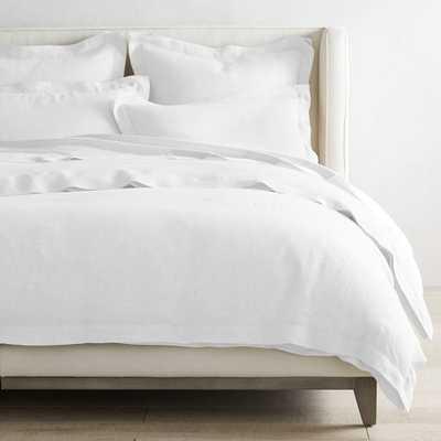 Chambers Linen Duvet Cover & Shams, King,White - Williams Sonoma