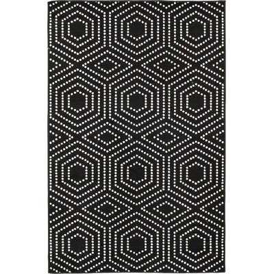 Heimdall Geometric Black Indoor/Outdoor Area Rug - Wayfair