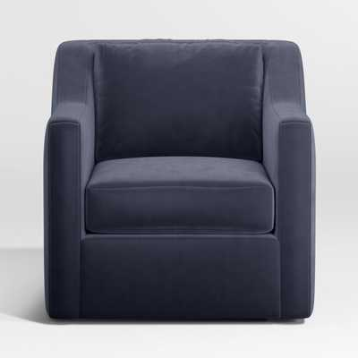 Notch Swivel Chair - Dark Blue - Crate and Barrel