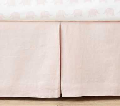Linen Crib Skirt - Pottery Barn Kids