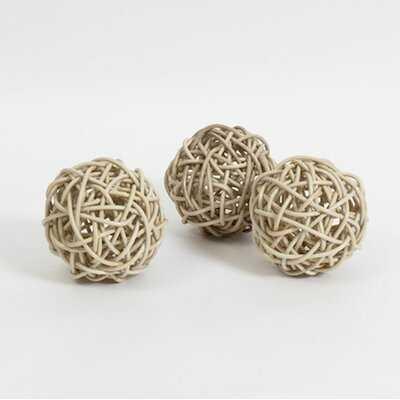Keaton Rattan Ball Sculpture - Wayfair