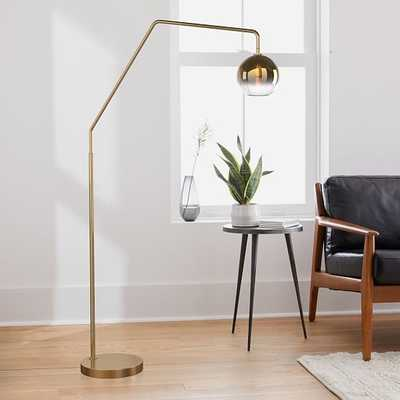 Sculptural Overarching Floor Lamp, Globe Small, Gold Ombre, Antique Brass - West Elm