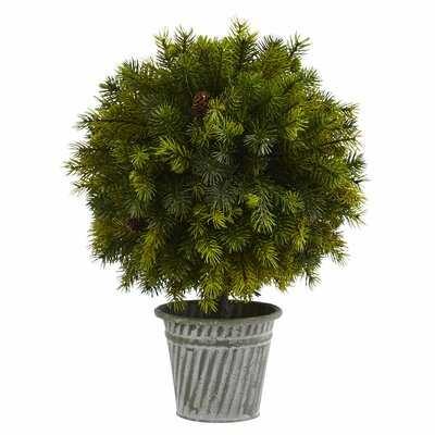 "12"" Artificial Cedar Topiary in Planter - Wayfair"