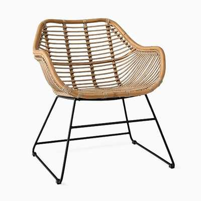 Oahu Collection, Rattan Lounge Chair, Natural - West Elm