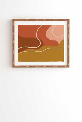 "Abstract Organic Shapes In Zen by June Journal - Framed Wall Art Bamboo 8"" x 9.5"" - Wander Print Co."