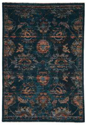 "Vibe by Milana Oriental Blue/ Blush Area Rug (5'X7'6"") - Collective Weavers"