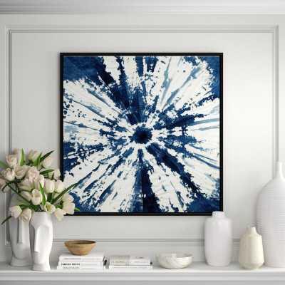 JBass Grand Gallery Collection 'Shibori Circle' Framed Print on Canvas - Perigold