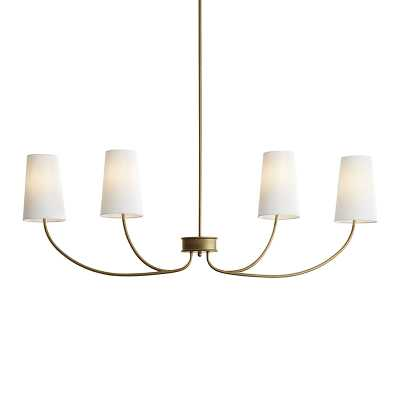 Lottie Linear Chandelier with White Shades   - Ballard Designs - Ballard Designs