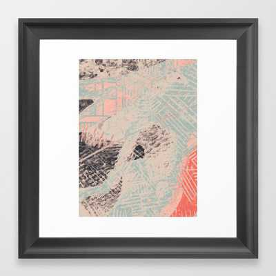 Industry: Mixed Media | Digital | Street Art | Abstract | Blue | Coral | Gray | Pink | Pattern | Framed Art Print by Alyssa Hamilton Art - Scoop Black - X-Small-12x12 - Society6