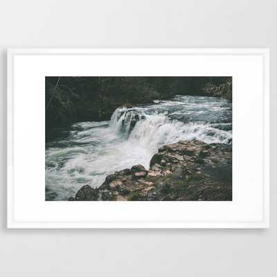 Lee Falls Framed Art Print by Hannah Kemp - Vector White - LARGE (Gallery)-26x38 - Society6