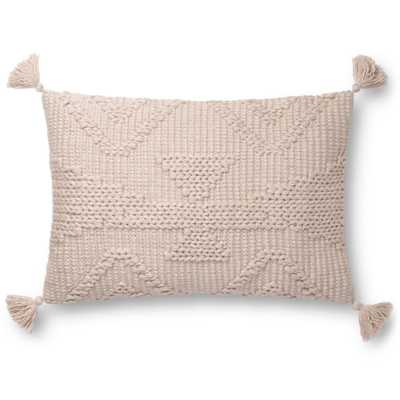 """Loloi PILLOWS P0828 Blush 16"""" x 26"""" Cover Only - Loma Threads"""