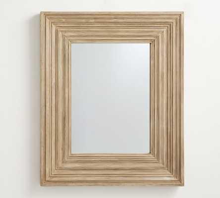 "Leon Wall Mirror, Light Wood, 41""W x 50""H - Pottery Barn"