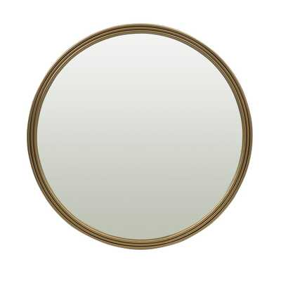 Utopia Alley Bathroom Round Mirror, Wall-Mounted Bathroom Mirror, 24''Modern Gold Metal Frame - Home Depot