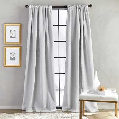 CHF SOUTH Bloomsbury Microsculpt Room Darkening 52 in. W x 84 in. L Rod Pocket Curtain Panel in Grey - Home Depot