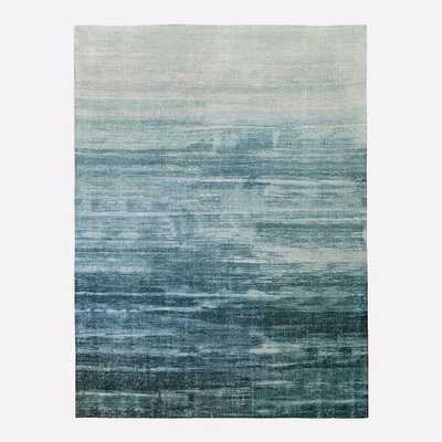 Painted Ombre Rug, 9'x12', Midnight - West Elm