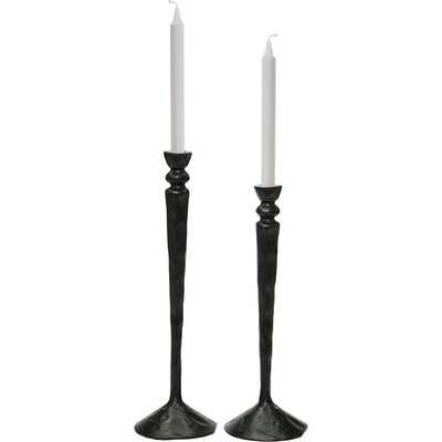 2 Piece Tall Metal Candlestick Set - Birch Lane