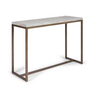 Home Styles Geometric Chalky White Console Table, Chalky white and brown - Home Depot