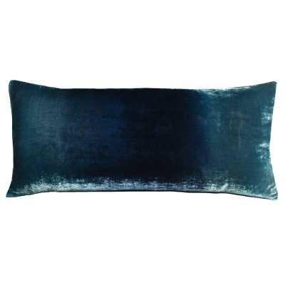 """Kevin O'Brien Studio Velvet Throw Pillow Color: Shark, Size: 16"""" x 36"""" - Perigold"""