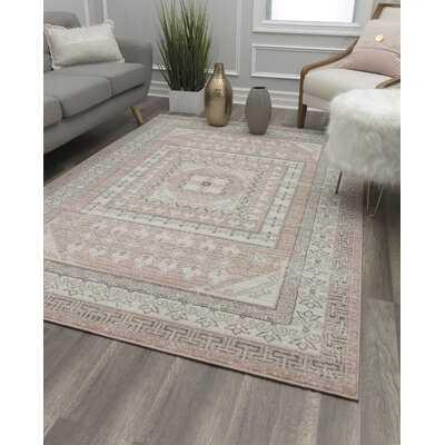 Kimble Pink/Ivory/Gray Area Rug - Wayfair