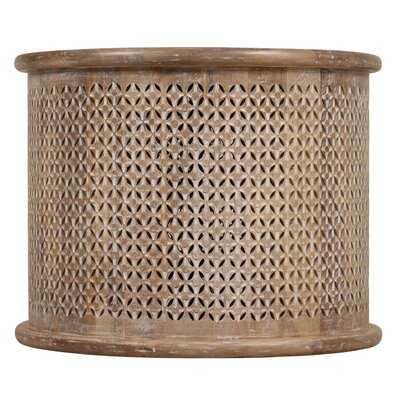 Henrickson Solid Wood Drum Coffee Table - Wayfair