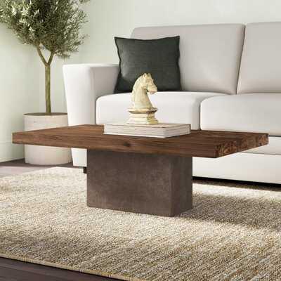 Amberly Pedestal Coffee Table - Wayfair