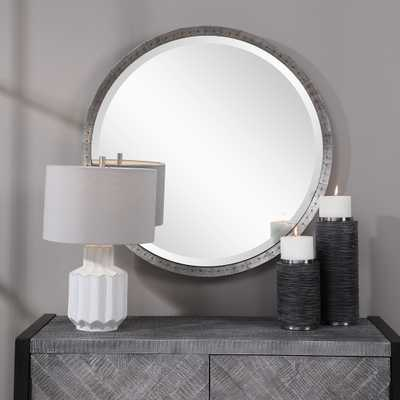 Bartow Industrial Round Mirror - Hudsonhill Foundry