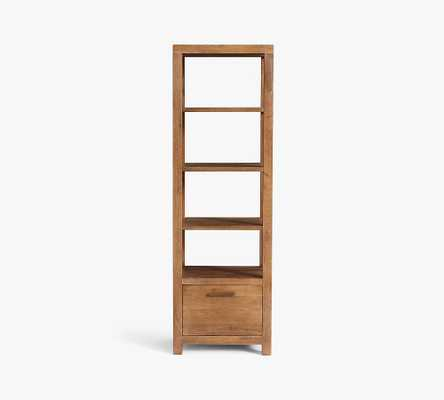 """Reed 23"""" x 71"""" Tall Bookcase, Antique Umber - Pottery Barn"""