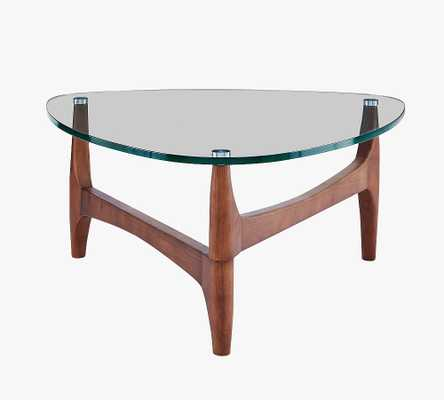 "Petaluma 35"" Round Coffee Table, Walnut - Pottery Barn"